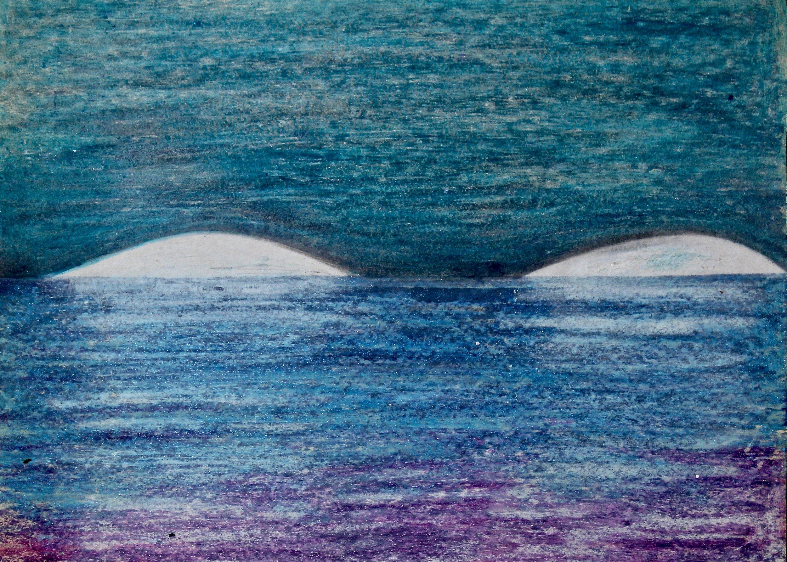 We Must -  1988 crayon on paper 20cm x 26cm