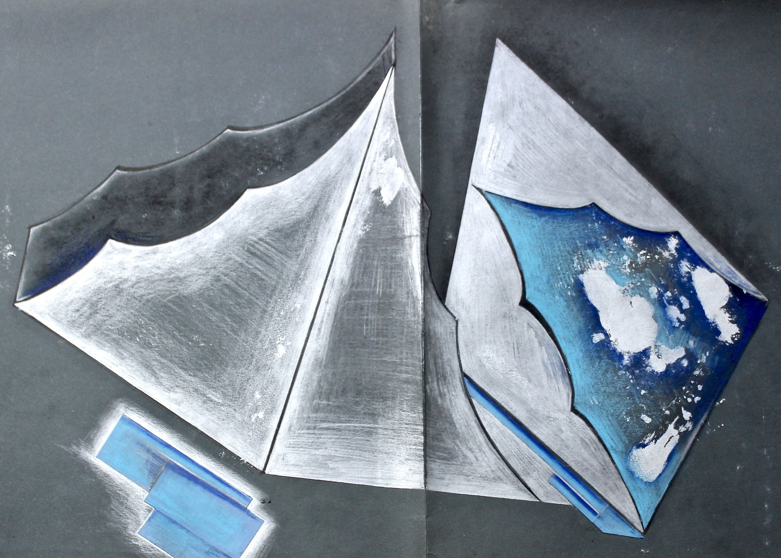 My Folder -  1991 watercolour on paper 20cm x 26cm