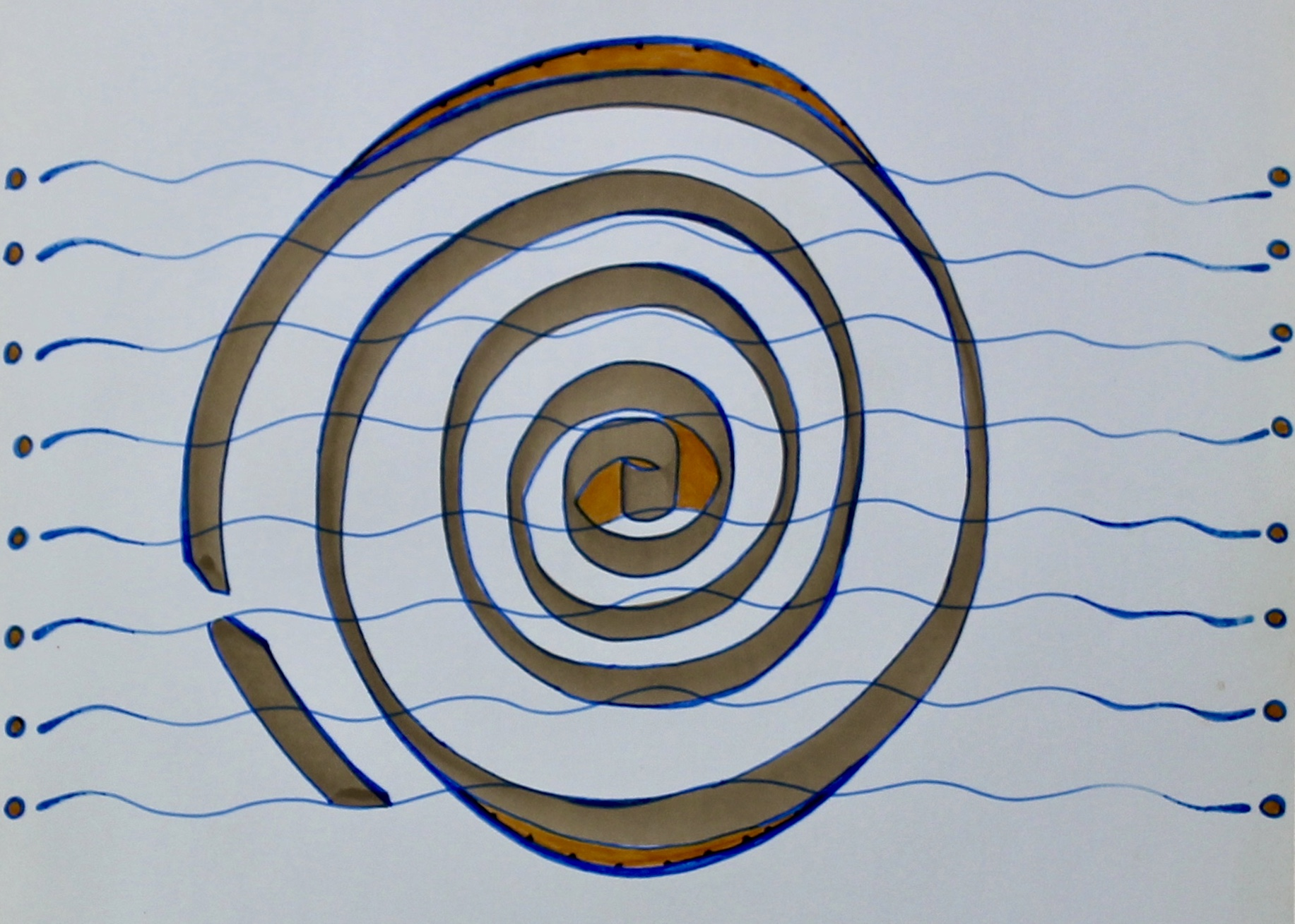 Have Your Wave -  1999 coloured marker on paper 20cm x 26cm