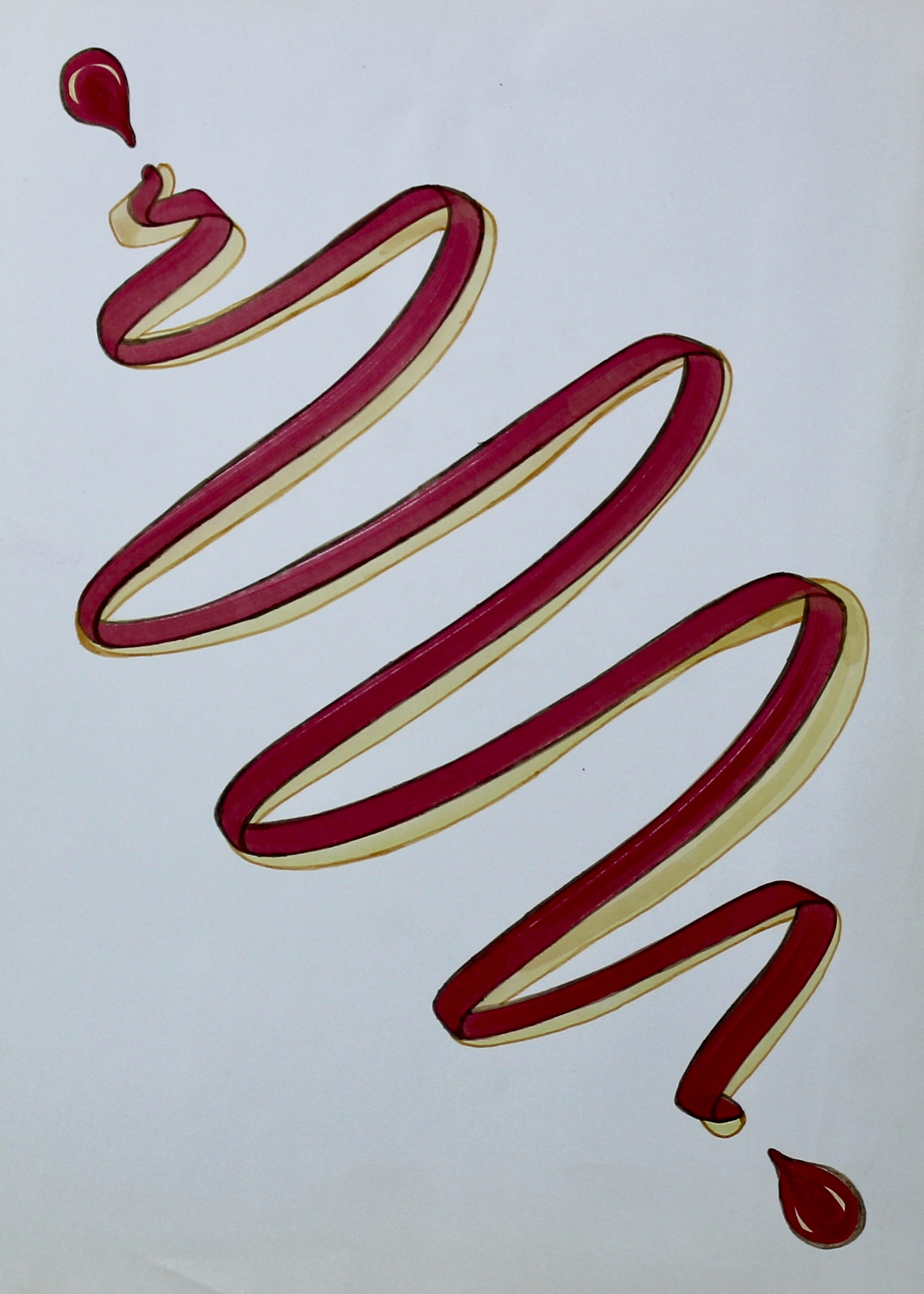 Weave Into It -  1997 coloured marker on paper 10cm x 26cm