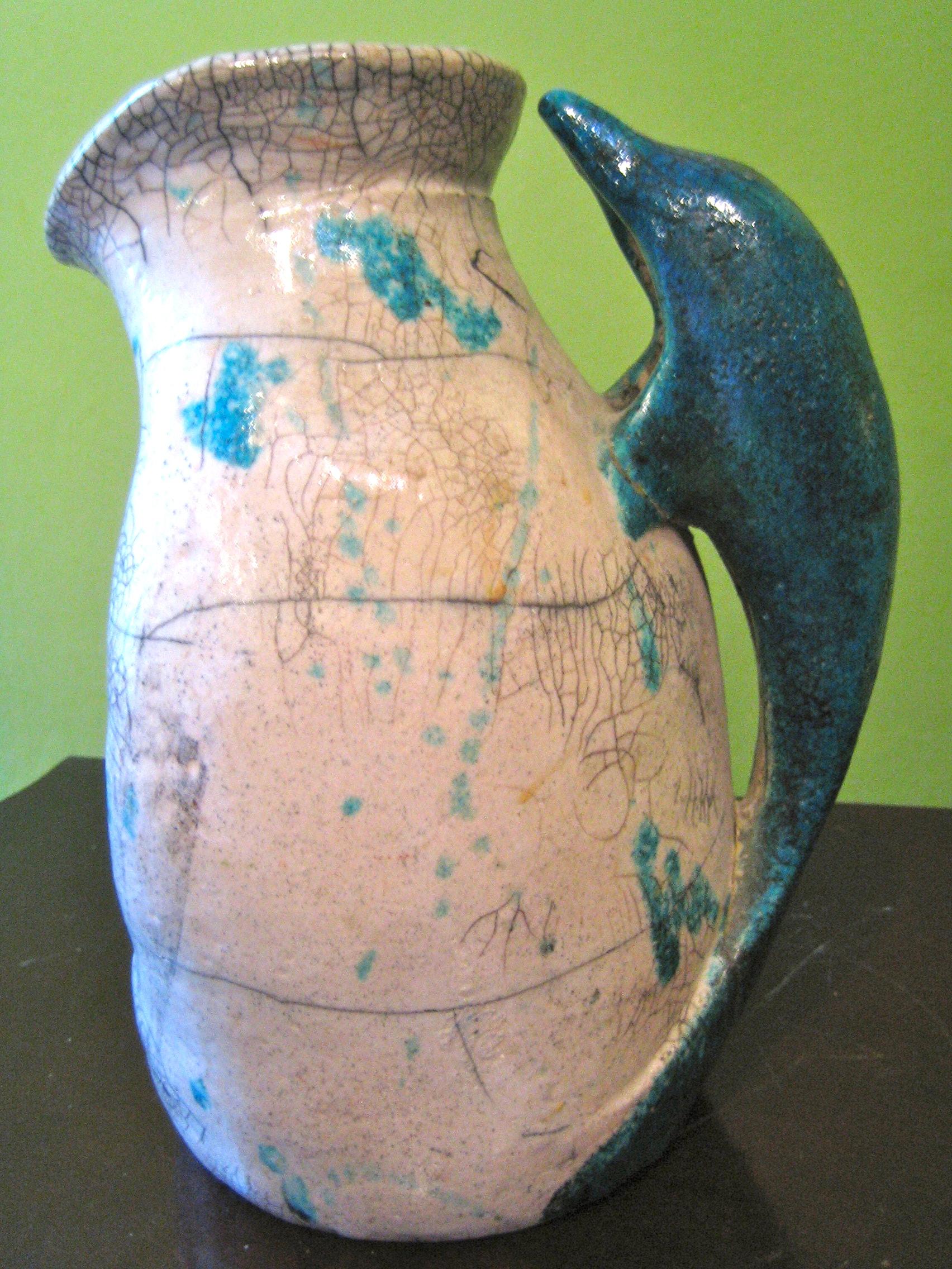 Porposeful Jug -  1991 hand coiled ceramic (sold)