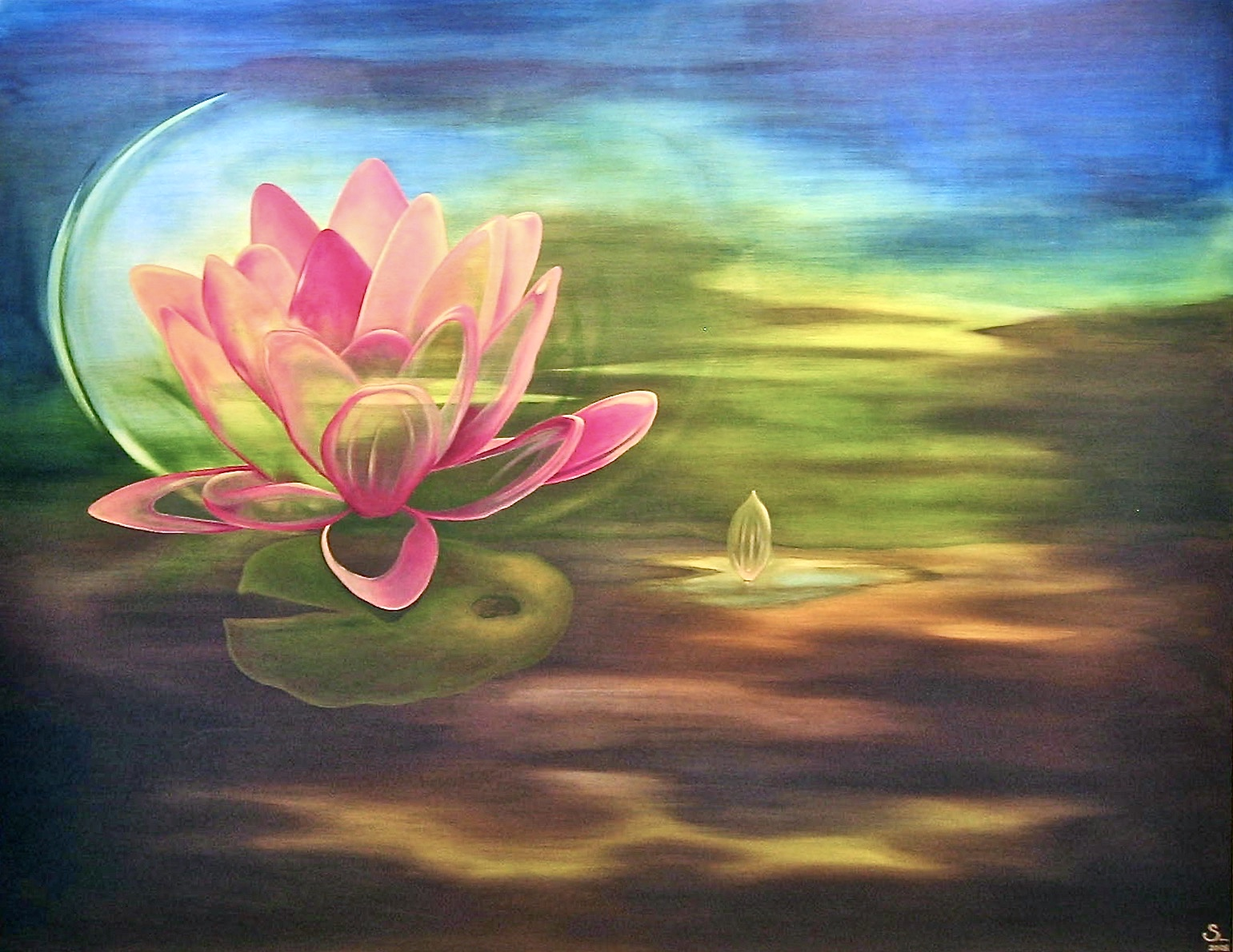 Lotus Spiritus -  2006 oil on canvas 800cm x 1500cm (sold)