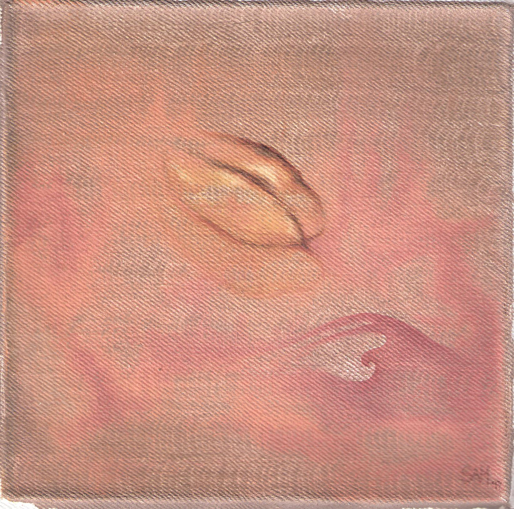 Papaya Suave-  1997 oil on canvas 30cm x 30cm (sold)