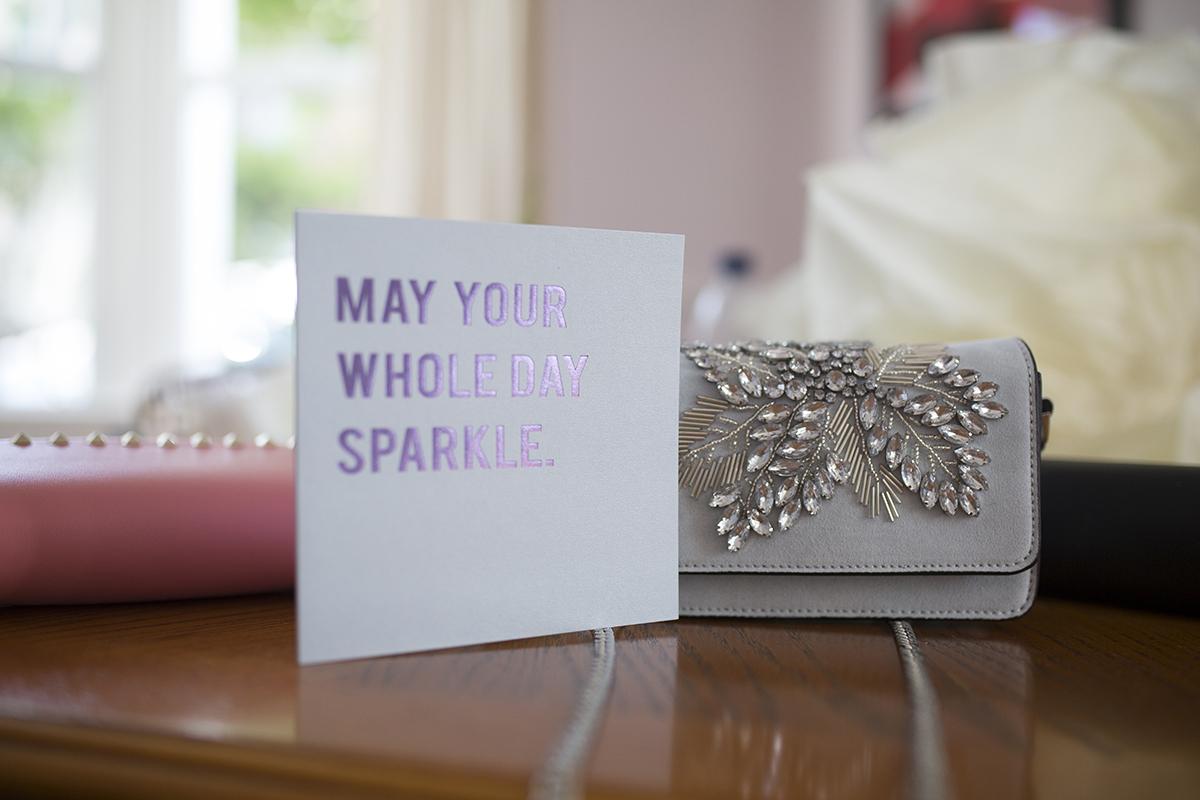 wedding bag and greeting card