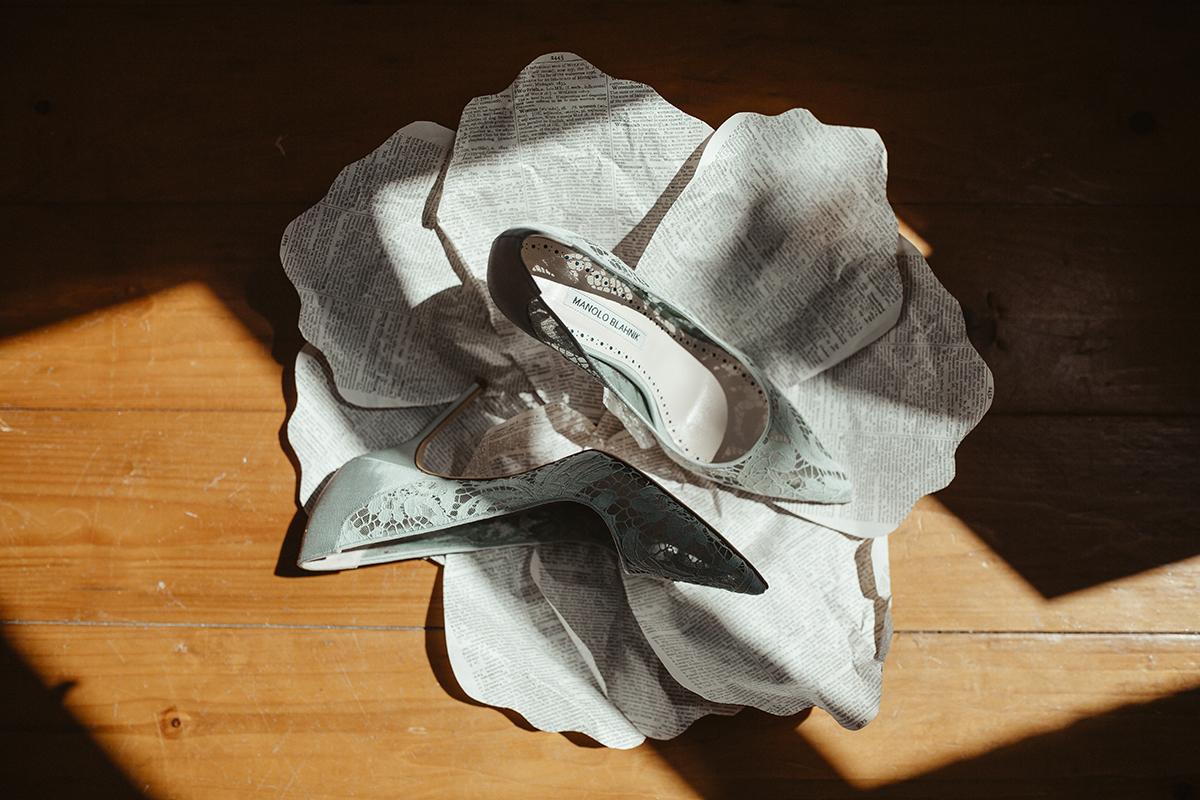 Brides wedding shoes Sophie Lake Photography