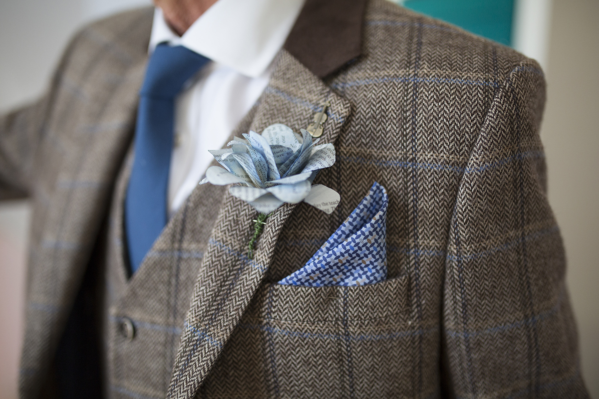 Father of the bride Buttonhole Sophie Lake Photography