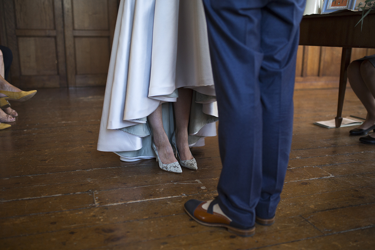 Bride and Groom feet Sophie Lake Photography