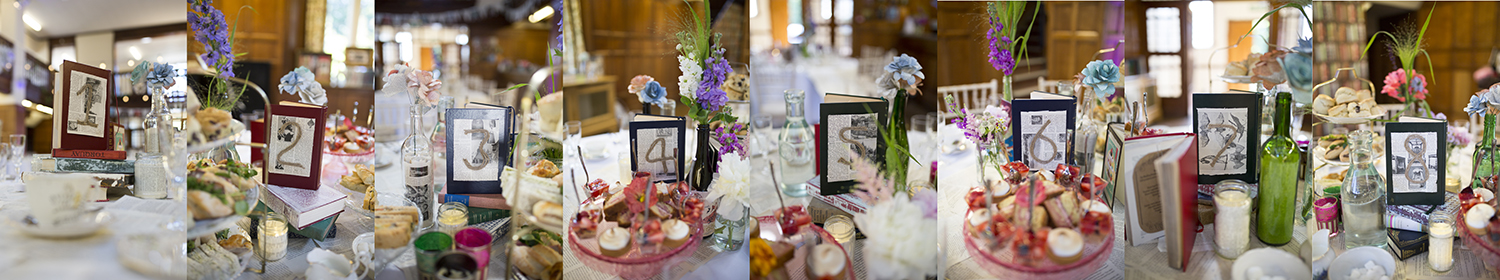 Wedding table decorations Sophie Lake Photography