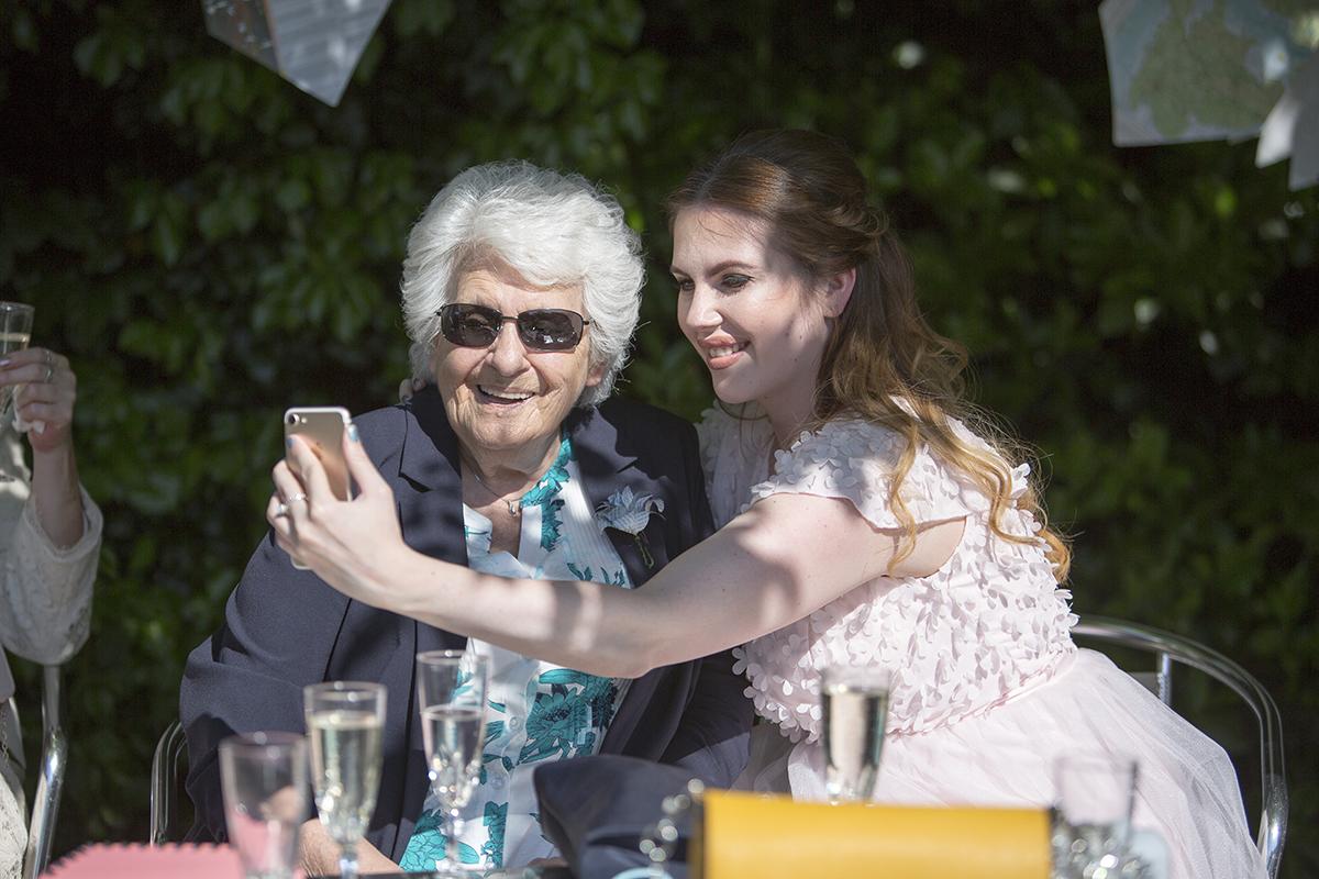 Wedding selfie Sophie Lake Photography