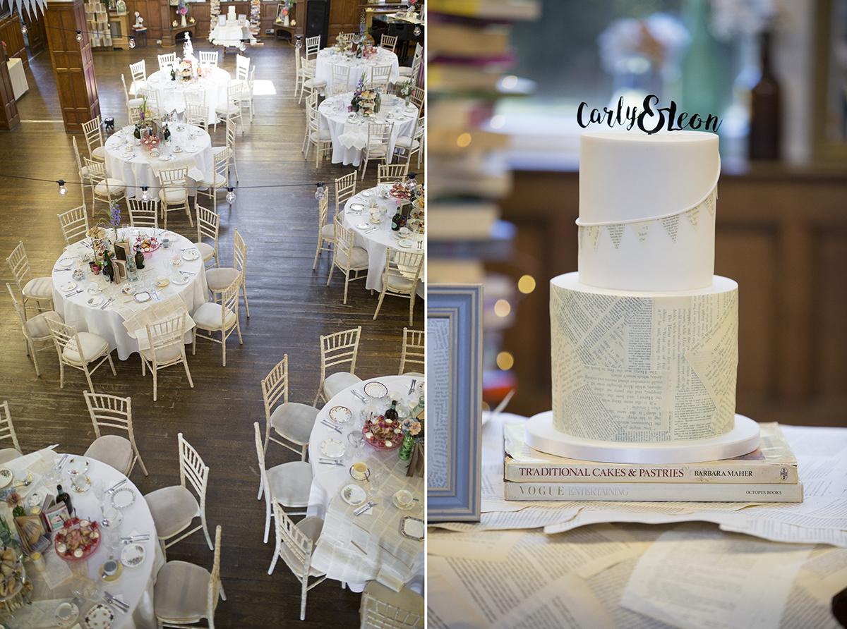 Wedding cake Sophie Lake Photography