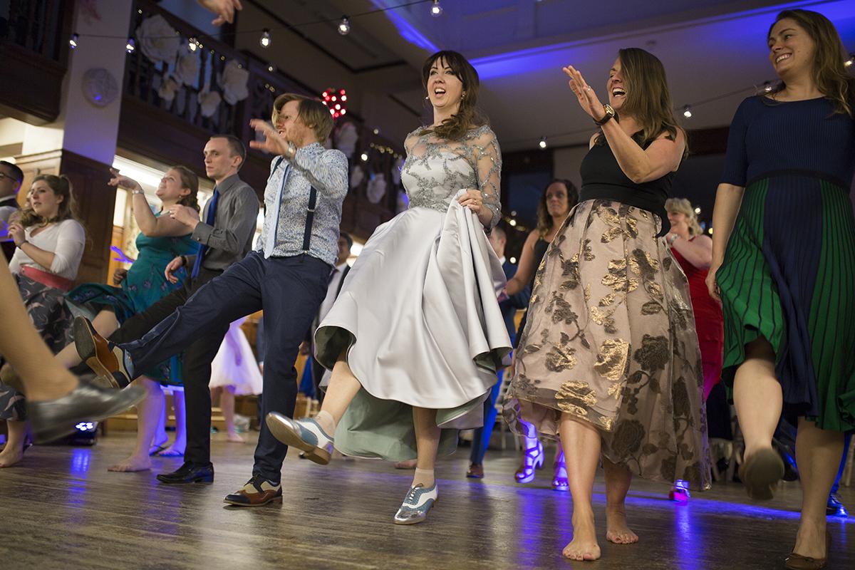 Wedding Guests Swing Dancing Sophie Lake Photography