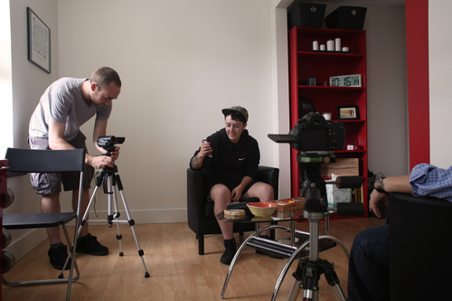 Dir. Lorne Clarkson filming a therapy session with Issa Ismail. livmartin.com