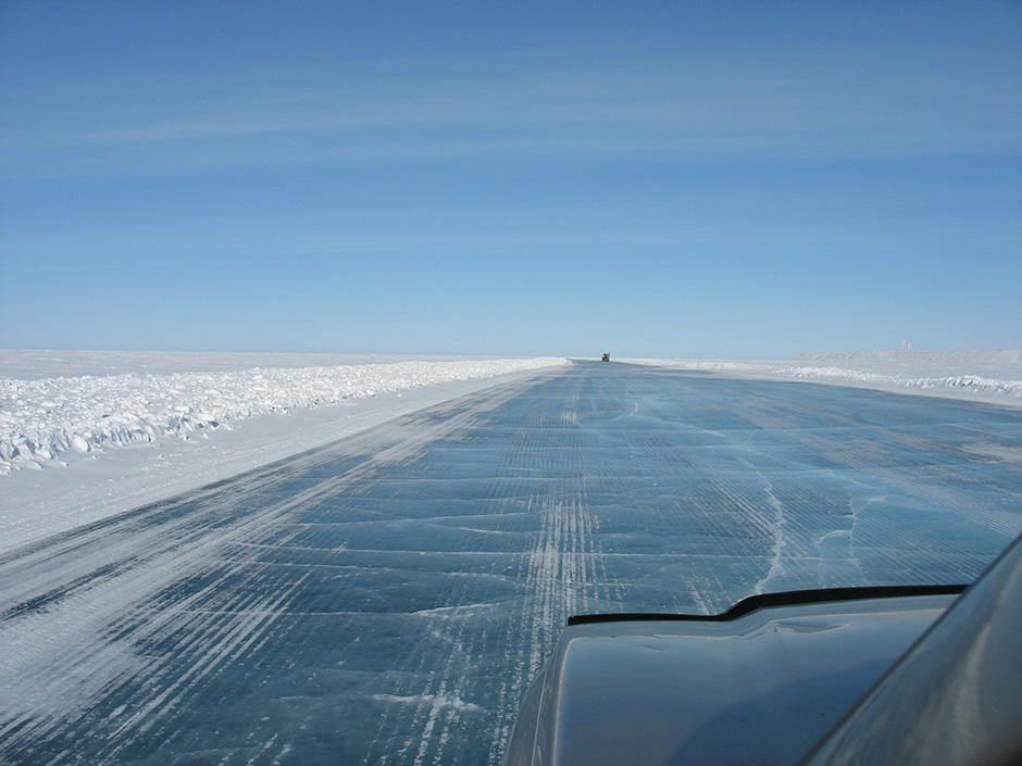 Ice Roads traverse many lakes which can benefit from ice hazard monitoring.