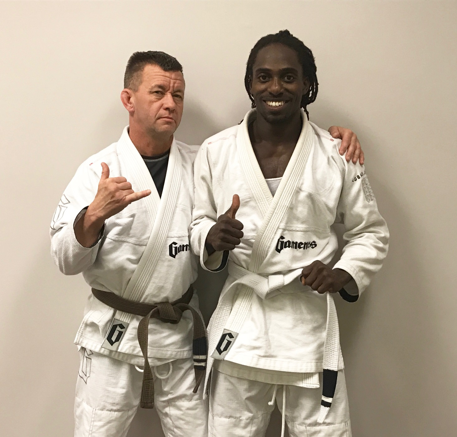 Osei give a thumbs up after his promotion.