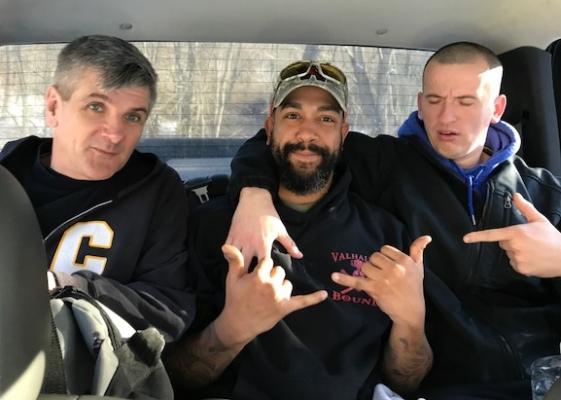 Jason, Steve, & Marty on the way to NY