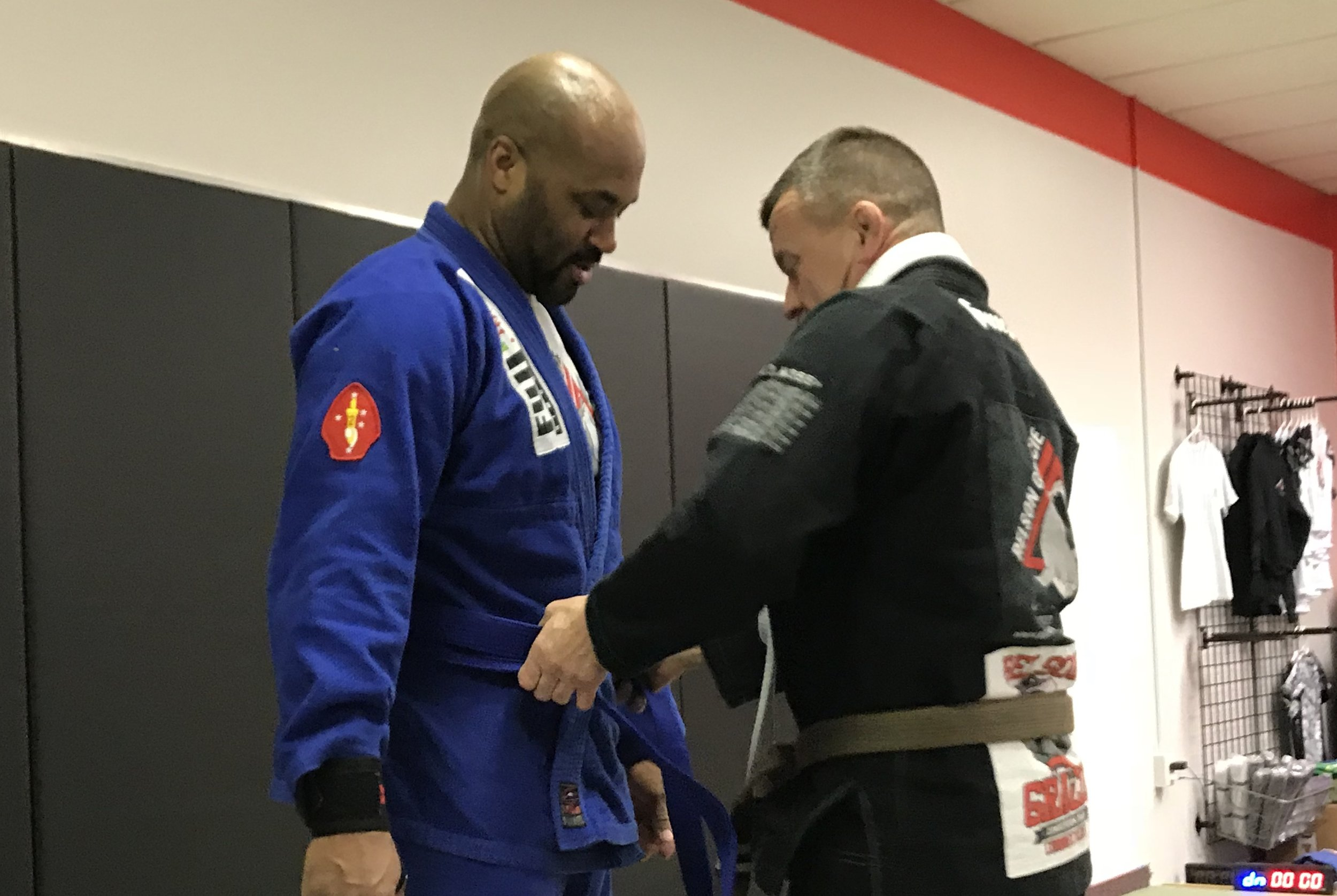 John Trammell gets his blue belt!
