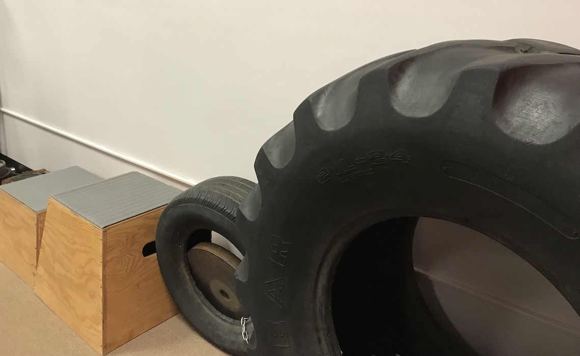 Tires & boxes for conditioning classes