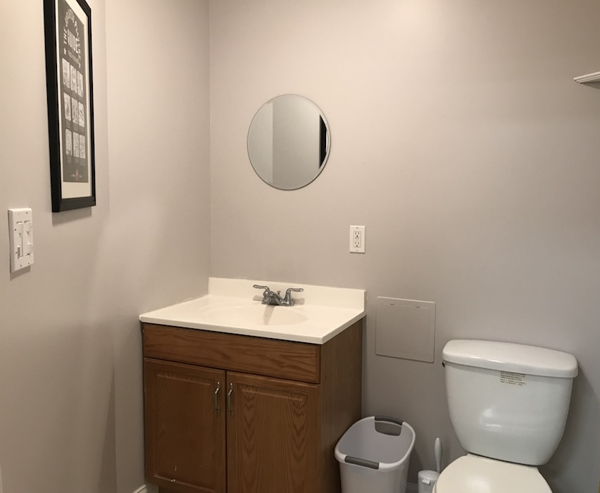 ...and the back bathroom