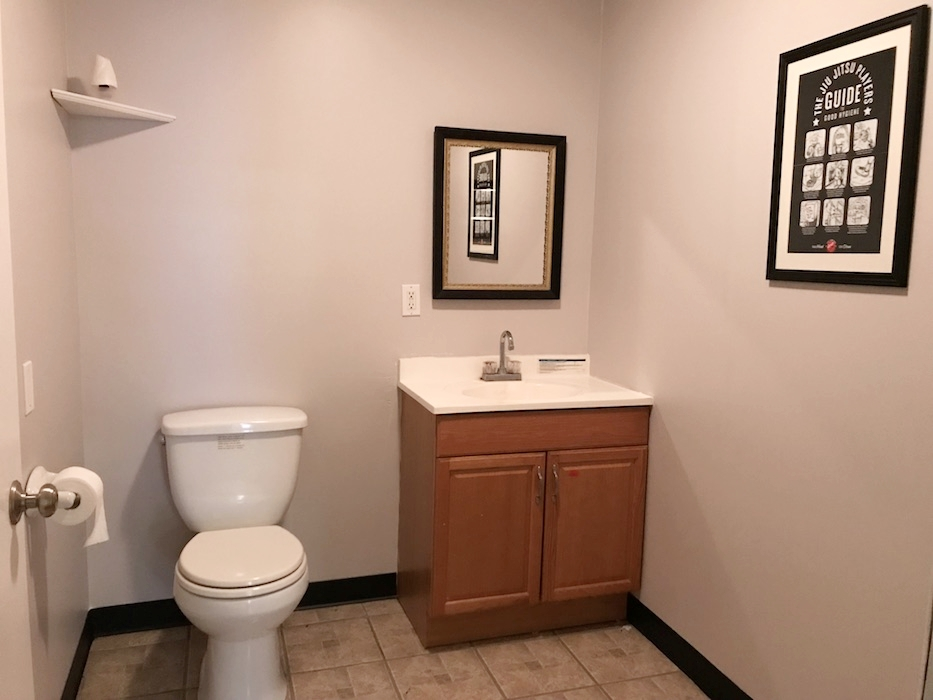 The front bathroom got an upgrade too!