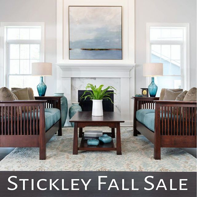 Announcing our annual 40% off Stickley Fall Sale. Time to think about friends and family gathering for holiday celebrations. Make sure you're set and gather-ready!!