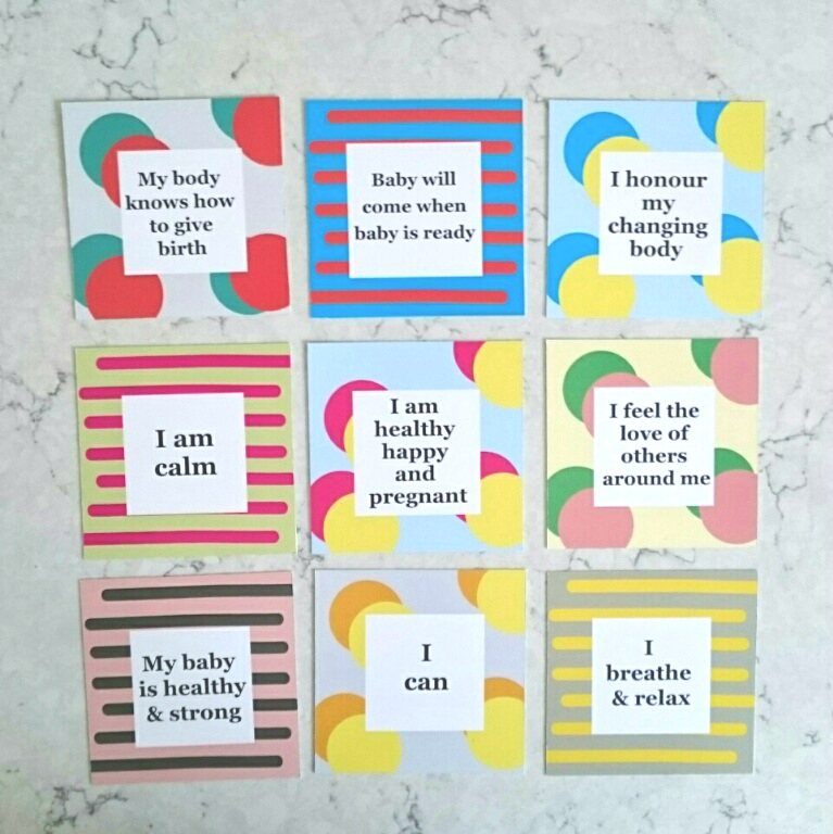 Positive Affirmation Cards For Modern Mothers Hypnobirthing.jpg