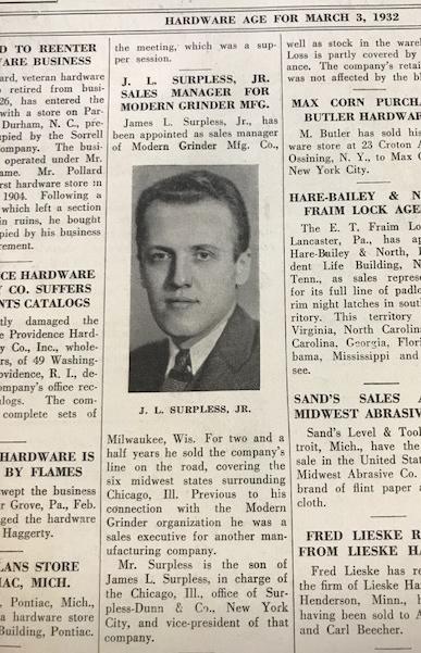 Newspaper article James L Surpless Jr 1932.jpg