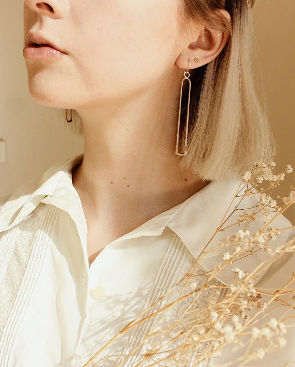 the xima earrings by ellen mote