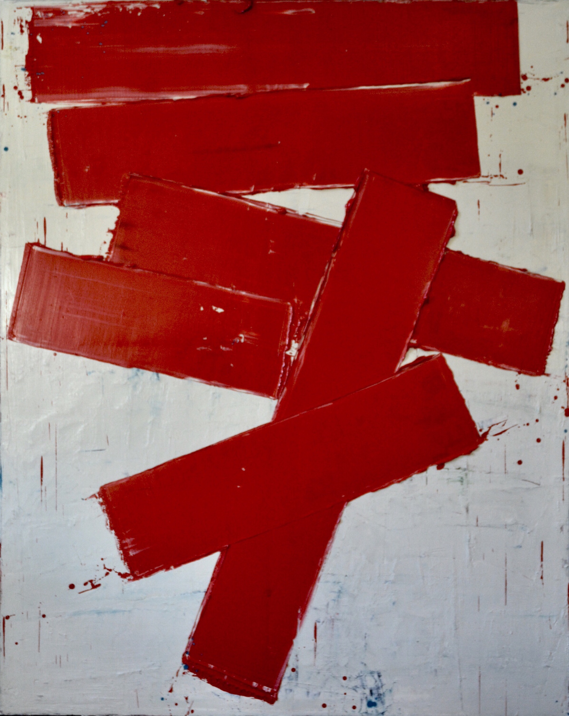 Red Timbers, 150cm by 120cm, Oil on canvas