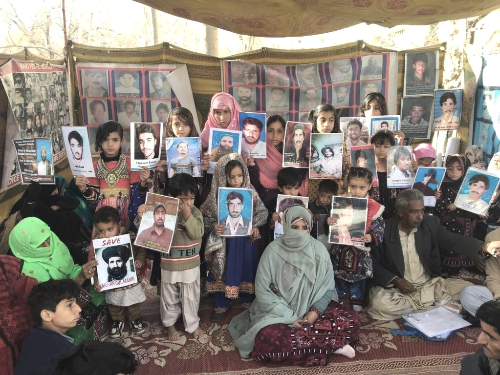 Protest against enforced disappearance of Baloch activists. Image:    Twitter