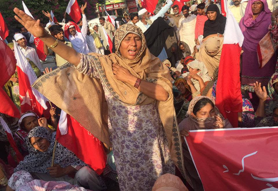 Women were at the forefront of tenant protests against evictions and the rearrangement of tenancy agreements on Okara's Military Farms. Image:    Sister-hood