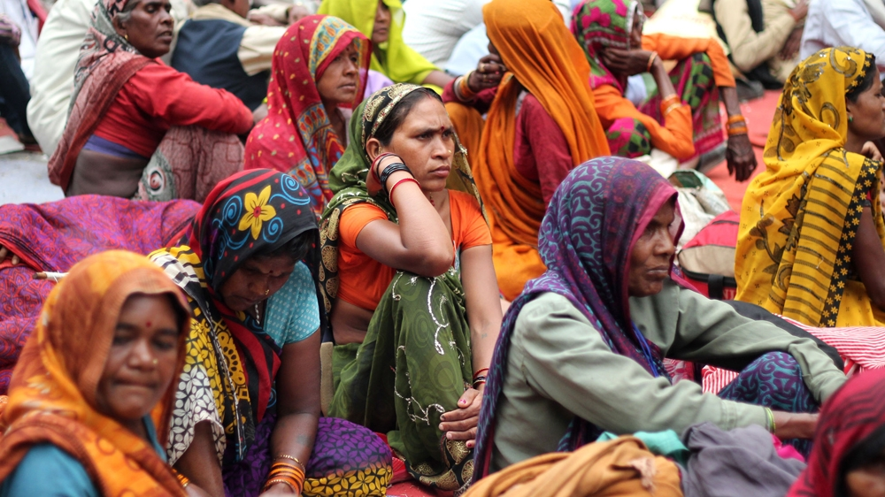 March 2015 — Thousands from rural India marched to Delhi to protest a proposed amendment to the 2013 Land Acquisition Act. By removing a crucial consent clause, the amendment intended to further facilitate the acquisition of land for mega-projects and SEZs. Image:    Al Jazeera