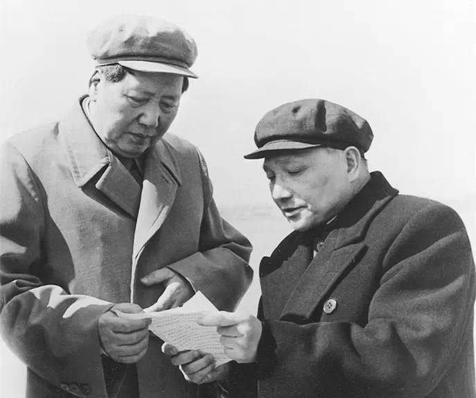 Mao Zedong (left) & Deng Xiaoping (right). After Mao's death, a power struggle ended with Deng becoming the leader of China in 1978. Image:    Everyday Life in Maoist China