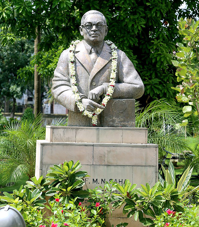 Bust of Meghnad Saha at Indian Association for the Cultivation of Science (IACS). Photo:    Wikipedia
