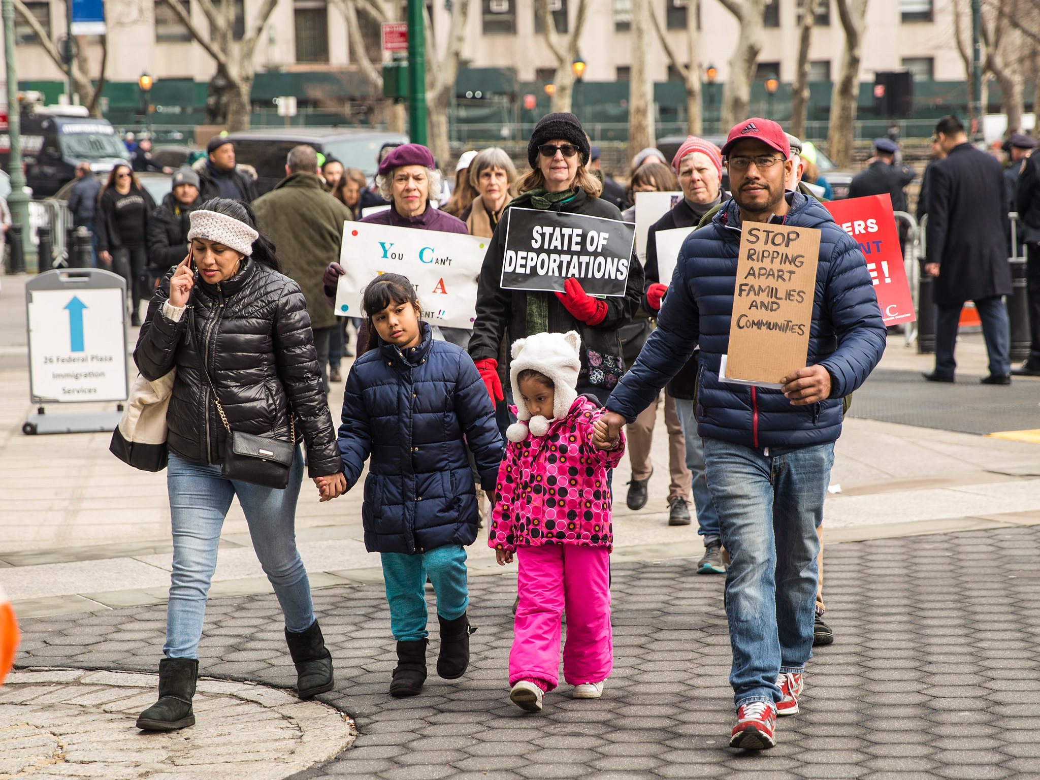 The 'You Can't Deport a Movement' rally in February 2018 delivered messages of love and solidarity to immigrants under threat of deportation. The US Immigration and Customs Enforcement (ICE) especially targeted outspoken immigration activists like    Ravi Ragbir   . Image:    Iryna Yafimchyk via Working Families   .