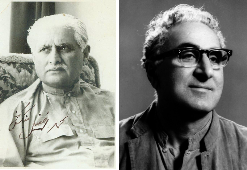 "Left: Afzal Bangash, a leader of the MKP. Source:    AWP   .  Right: Wali Khan, a leader of NAP. Wali Khan's father was Bacha Khan, the so-called ""Frontier Gandhi"". Source:    Dr. Ghulam Nabi Kazi"