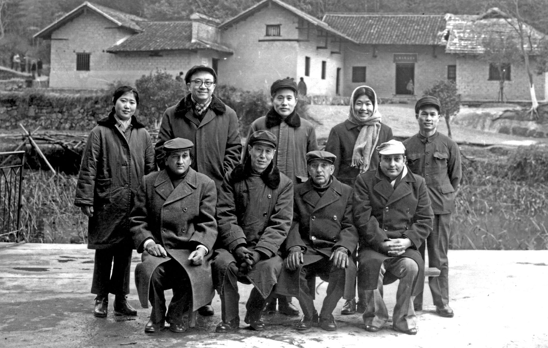 Feb 1978: IWA (GB) leaders Jagmohan Joshi (bottom left), Teja Singh (second from bottom right) and Avatar Johal (bottom right) meet members of the Communist Party of China at Mao's birth place in Shaoshan, China. The image is indicative of the IWA (GB)'s Maoist tilt, which informed their stance on the Naxalbari insurgency as well as their anti-racism work in Britain. Image:    CPGB (ML)/Flickr