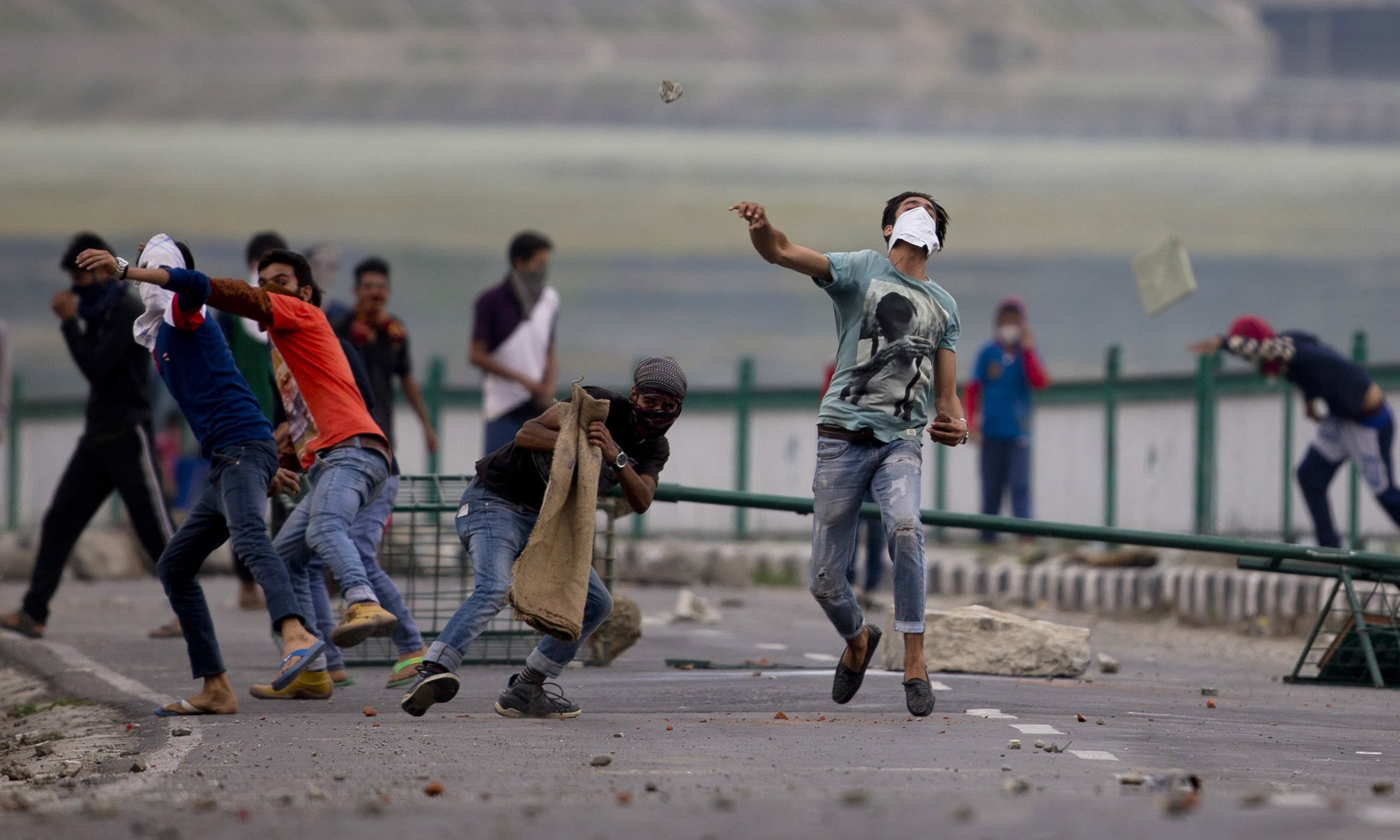 In this most militarized region of the world, Kashmiri youth continue to resist fearlessly, often fighting bullets with stones. Image:    DAWN