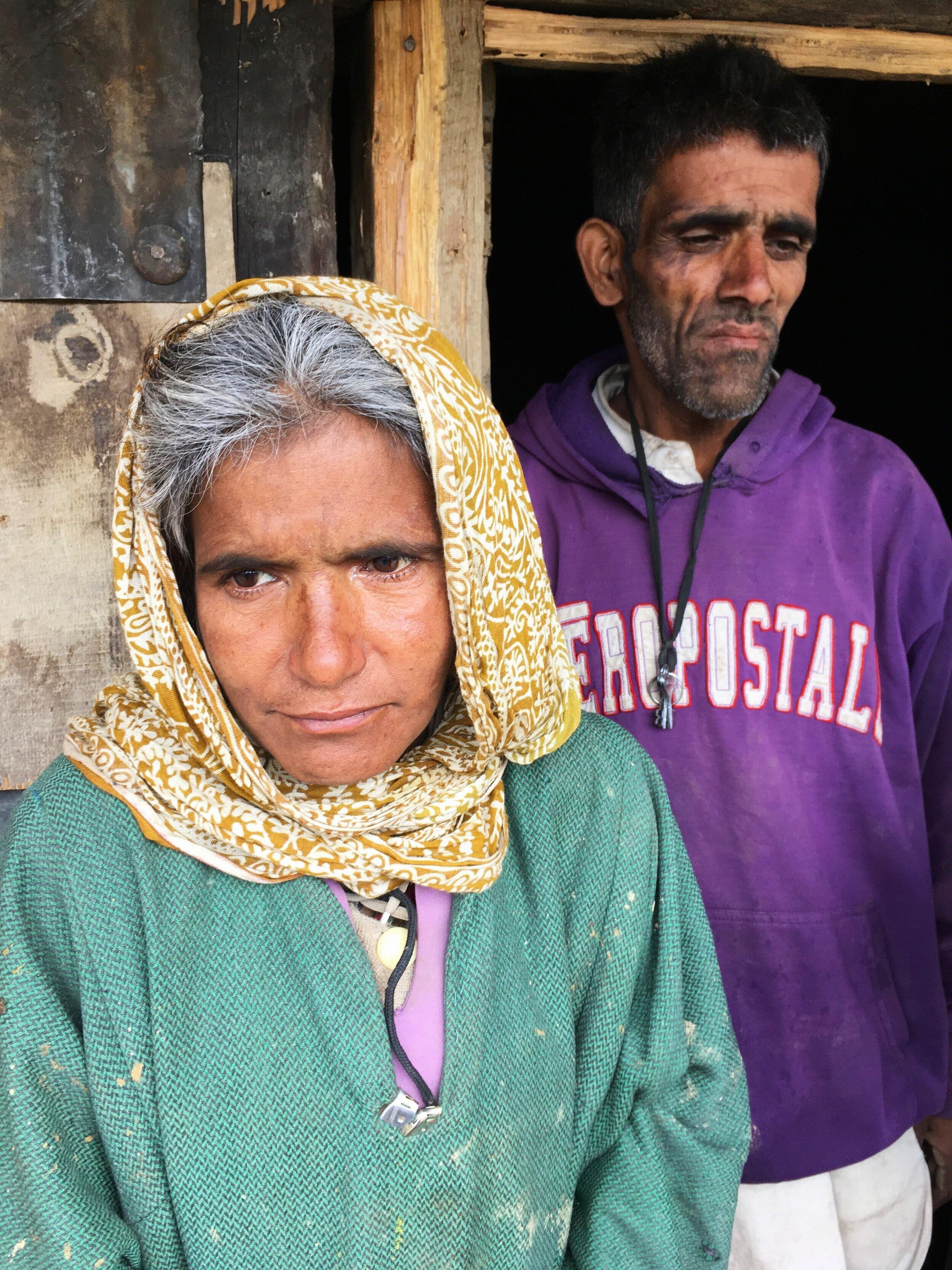 Riyaz's mother Shirina Begum and his uncle
