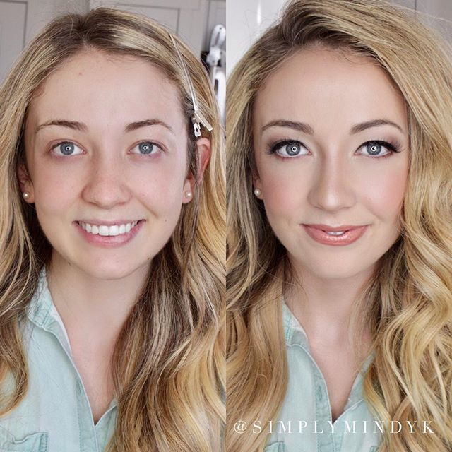 Beautiful bridal makeup before & after! ✨🤩