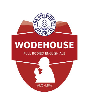 Wodehouse - Wodehouse is named after author and lyricist P.G.Wodehouse who spent several years living in Emsworth in the early twentieth century. Wodehouse is a rich, dark chestnut coloured ale delivering a smooth, full bodied taste.