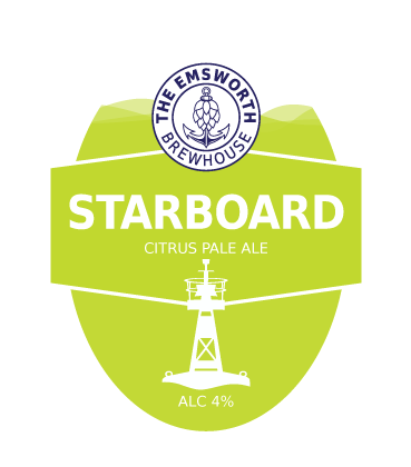 Starboard - Starboard is a hoppy citrus Pale Ale brewed using three different hops to deliver zesty lemon with a fruity tropical aroma!