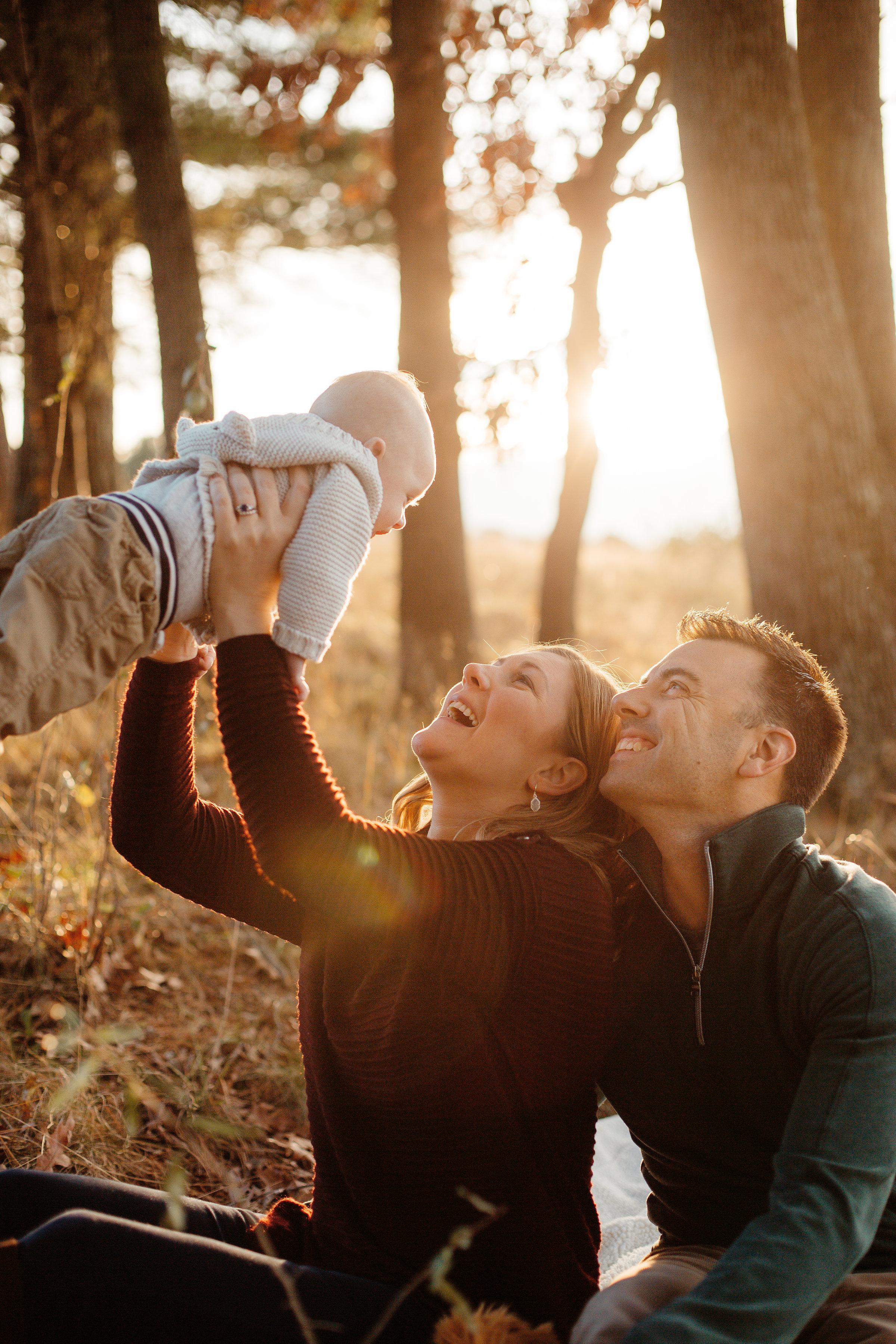 Golden Hour Family Photos in Lincoln, Massachusetts