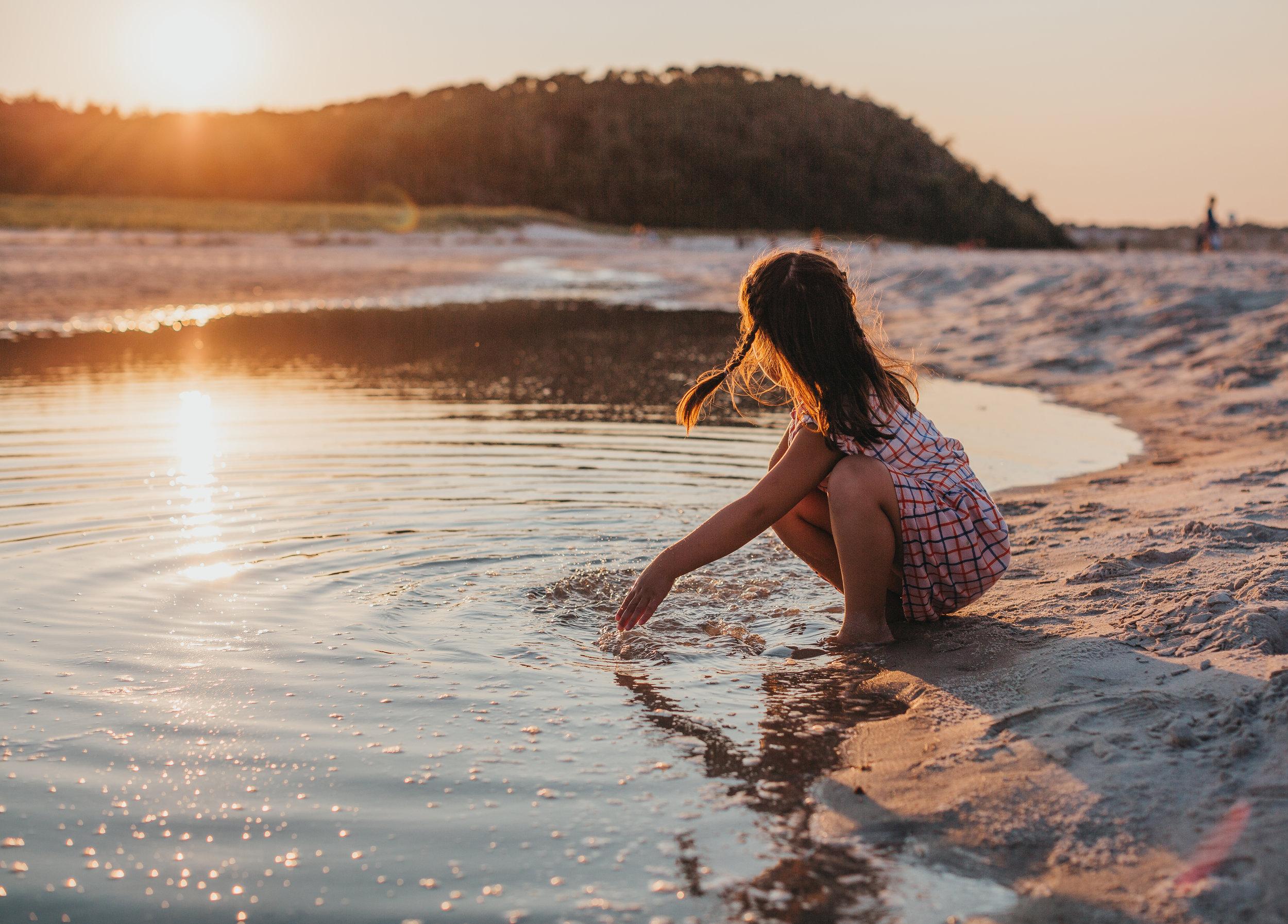 Sunset photos at Crane Beach | Boston family photographer