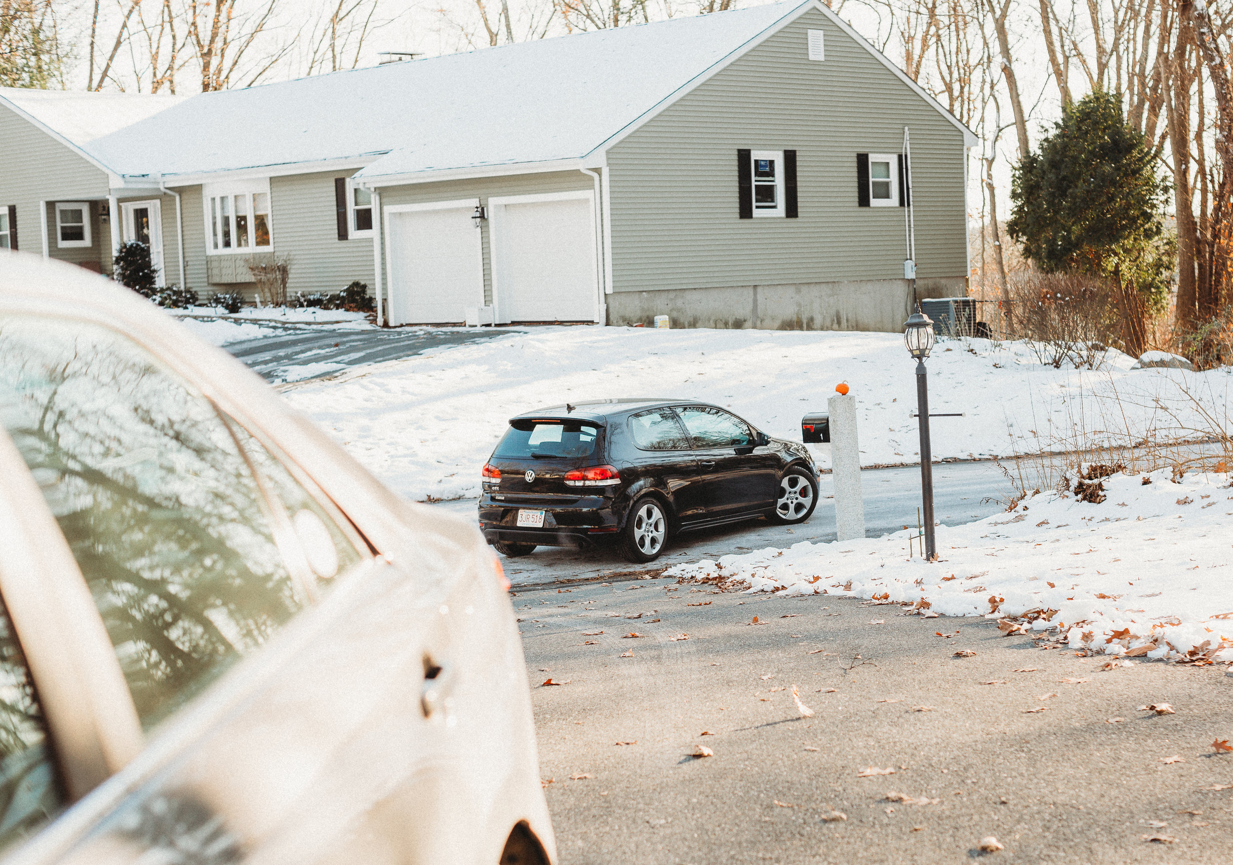 Off she goes! Teen in new car. Boston documentary photographer / family photography