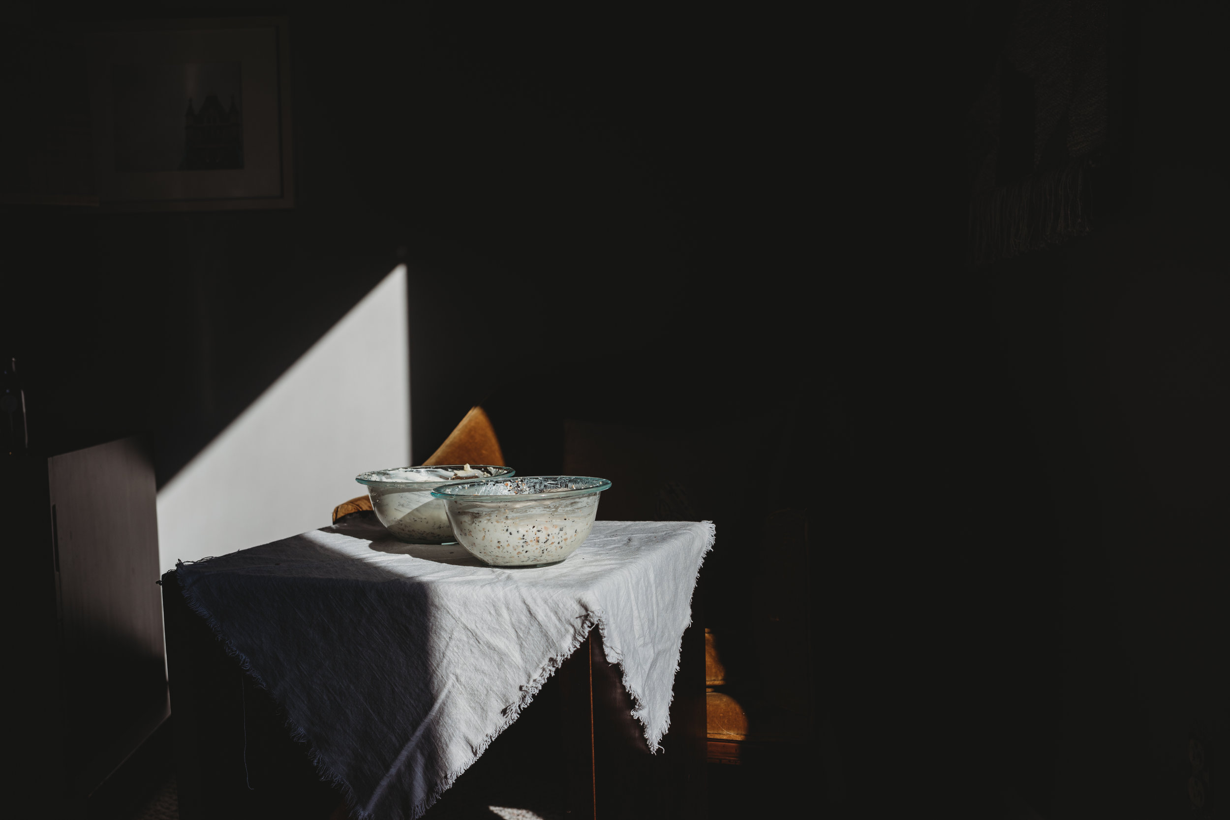 Experimenting with bread baking and light | Boston family photographer | still life