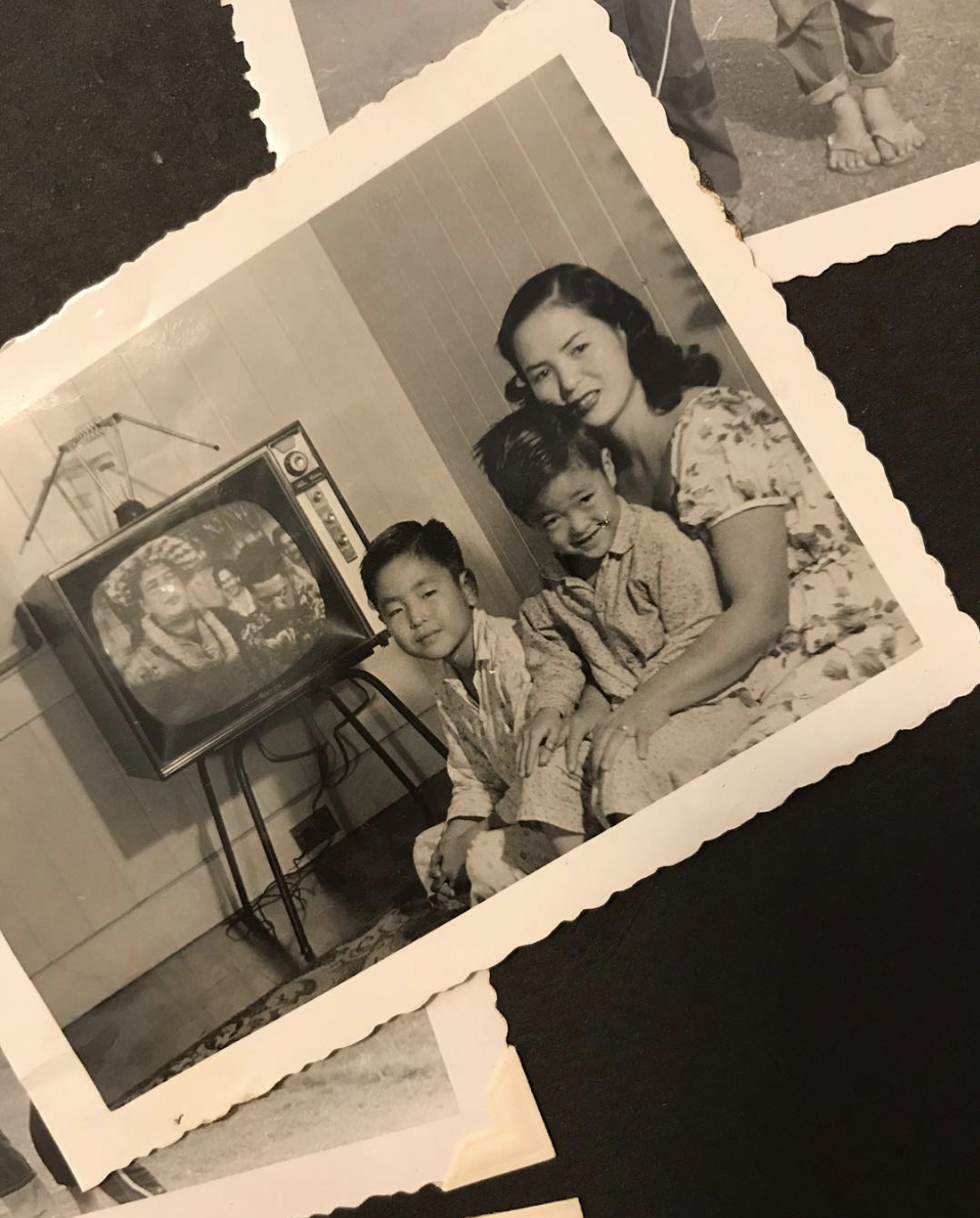 A photo of my grandmother with my dad and uncle in Honolulu in the 1950s.