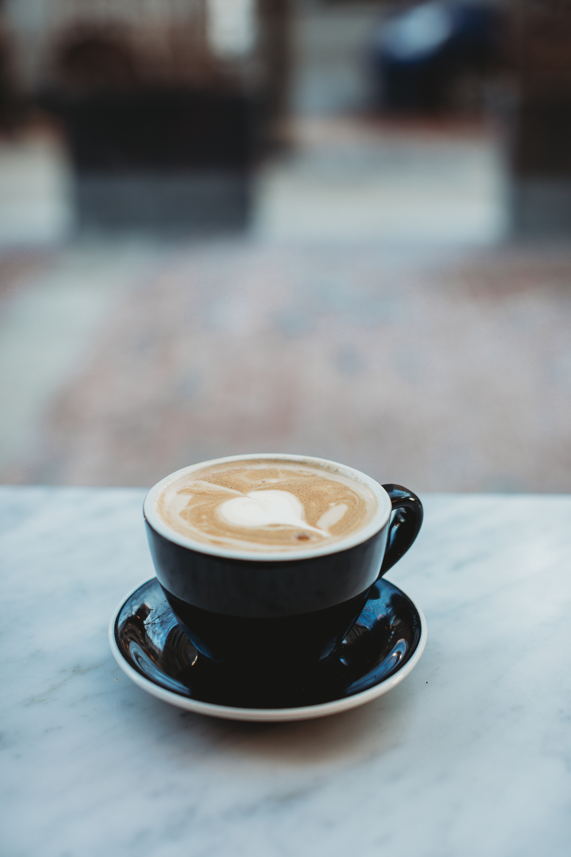 Beautiful latte with oat milk—the best! At Tatte Back Bay. Boston family photographer Joy LeDuc.