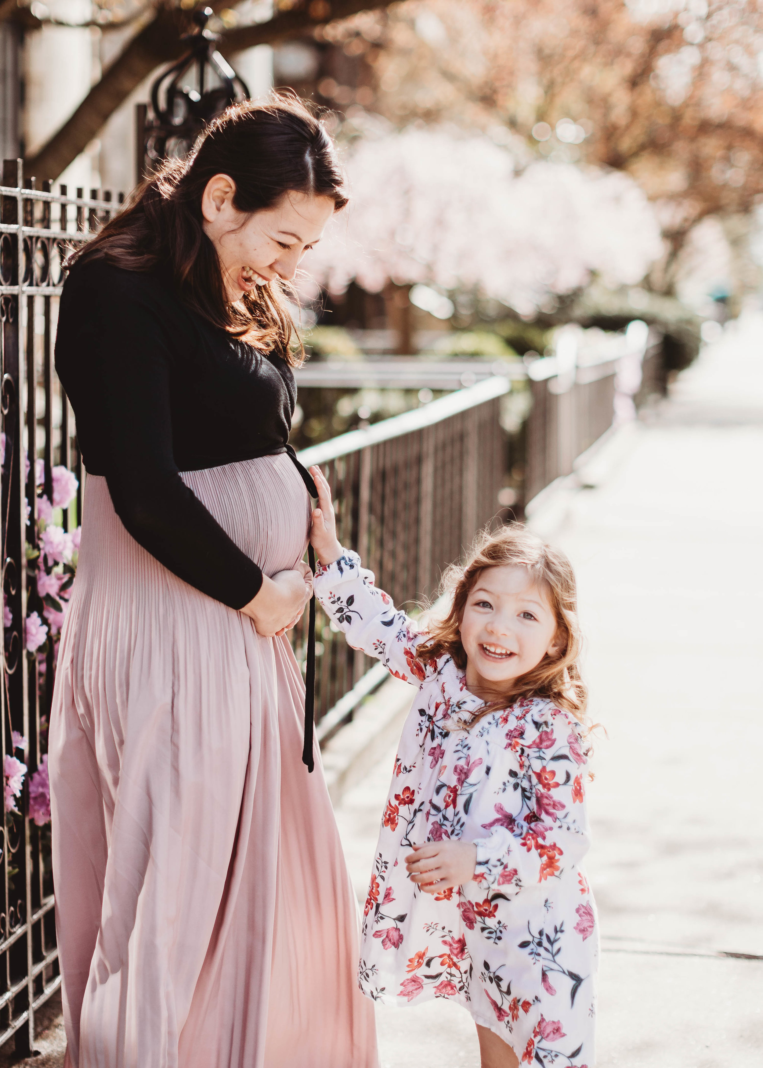 Mommy and Me Maternity Session in Boston | Sudbury Maternity Photographer