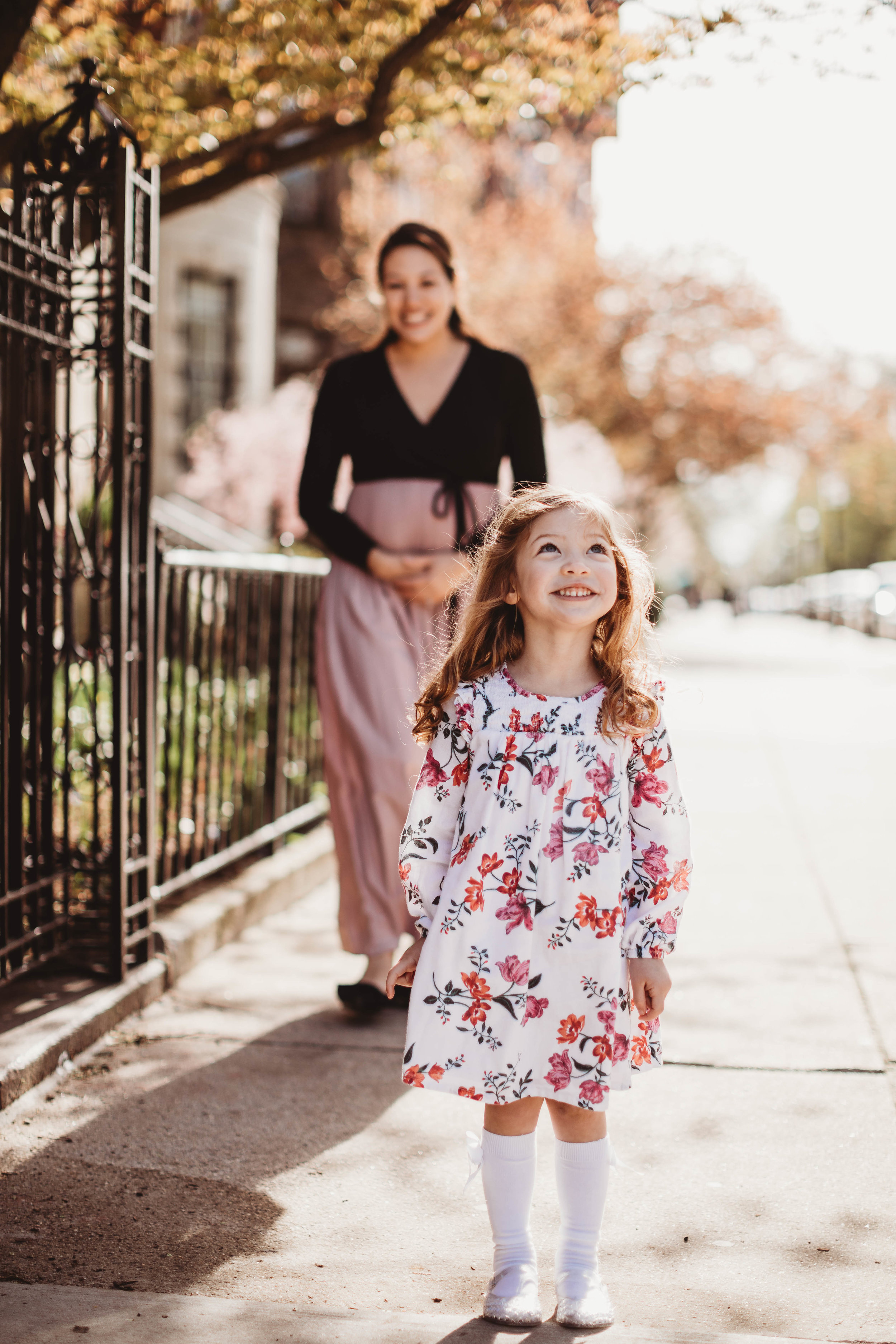 Cherry blossom adventure in Back Bay. Boston family photographer. New England lifestyle portraits.