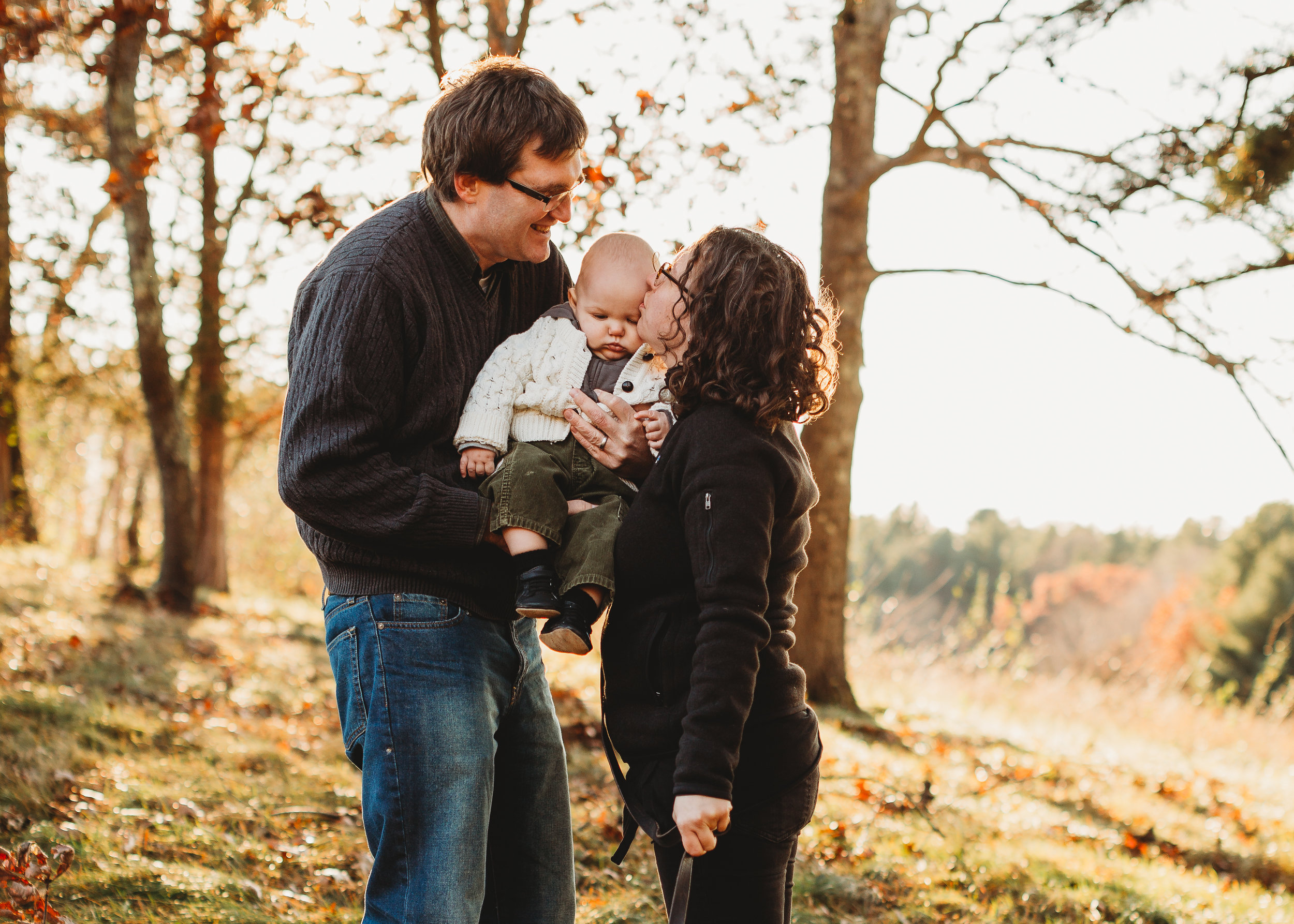 First birthday family photos in the fall. Boston family portraits. Lifestyle golden hour photography.